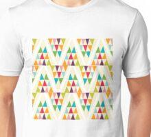 Geometric Multicolor Triangle Pattern Unisex T-Shirt