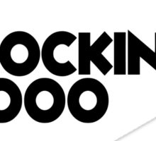 Rockin 1000 Black Sticker