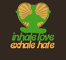 Inhale love exhale hate meditate  Womens Fitted T-Shirt