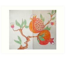Pomegranate - Sketch Book Project Art Print