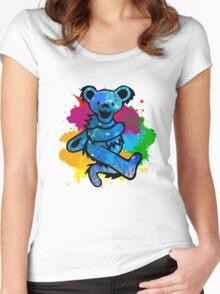 Grateful Dead Bear Women's Fitted Scoop T-Shirt