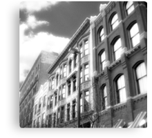Cityscapes - Between the shades of grey Canvas Print