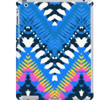 Bohemian print with chevron pattern in blue colors iPad Case/Skin