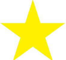 YELLOW, Star, Bright Star, Super nova, Stellar, Achievement, Cool, by TOM HILL - Designer