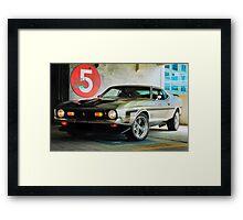 5! Framed Print