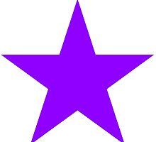 PURPLE, Star, Bright Star, Special, Super nova, Stellar, Achievement, Cool, by TOM HILL - Designer