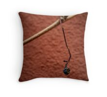 Grape on House Wall Throw Pillow