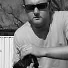 My Hubby Craig, B&W by Bernie Stronner