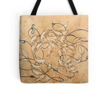 Twirl and Loop Tote Bag