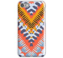 Bohemian print with chevron pattern in natural warm colors iPhone Case/Skin