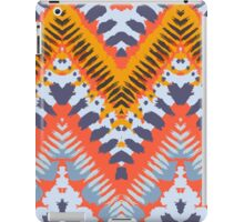 Bohemian print with chevron pattern in natural warm colors iPad Case/Skin
