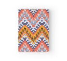 Bohemian print with chevron pattern in natural warm colors Hardcover Journal