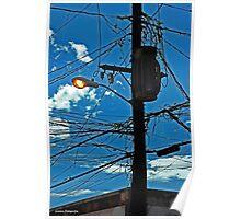 Puertorican lightpole Poster