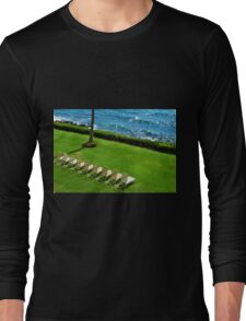 Chairs on the Beach Long Sleeve T-Shirt