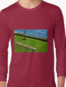 Chairs on the Beach Long Sleeve T-Shirt