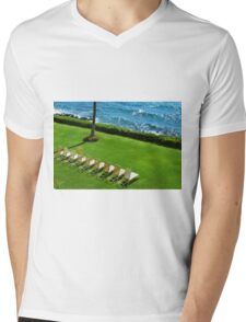 Chairs on the Beach Mens V-Neck T-Shirt
