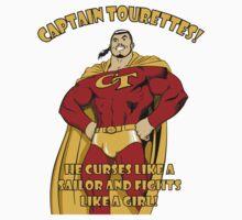 Captain tourettes he curses like a sailor and fights like a girl Kids Clothes