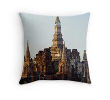 Temple Ruins Throw Pillow