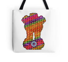 India emblem psychedelic Tote Bag