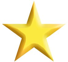 GOLD, Gold Star, Yellow, Star, Bright Star, Super nova, Stellar, Achievement, Cool, by TOM HILL - Designer