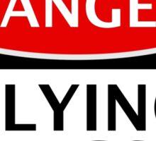 DANGER FLYING PIGS, FUNNY FAKE SAFETY SIGN Sticker