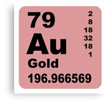 Gold periodic table of elements Canvas Print