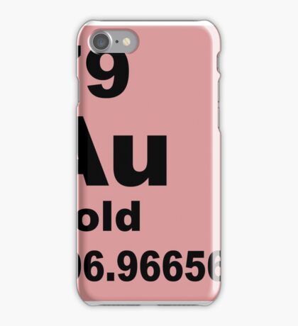 Gold periodic table of elements iPhone Case/Skin