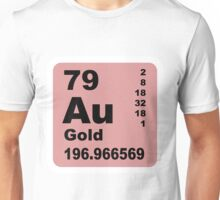 Gold periodic table of elements Unisex T-Shirt