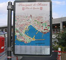 Signpost and Map -Monaco by Patricia127