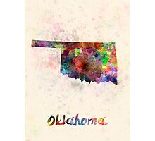 Oklahoma US state in watercolor Photographic Print