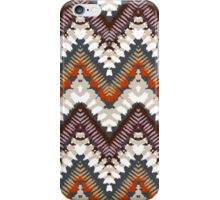 Bohemian print with chevron pattern in light brown colors iPhone Case/Skin