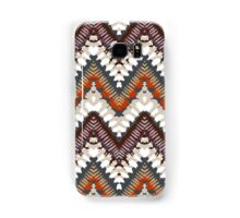 Bohemian print with chevron pattern in light brown colors Samsung Galaxy Case/Skin