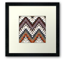 Bohemian print with chevron pattern in light brown colors Framed Print
