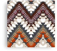 Bohemian print with chevron pattern in light brown colors Canvas Print