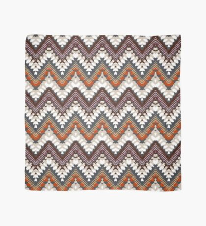 Bohemian print with chevron pattern in light brown colors Scarf