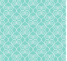 White & Mint Hearts by Decoravie