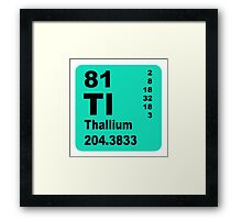 Thallium Periodic Table of Elements Framed Print
