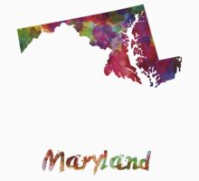 Maryland US state in watercolor T-Shirt