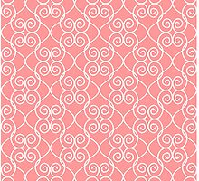 White & Coral hearts by Decoravie