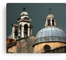 Stormy Sky and Bell Tower - Venice Canvas Print