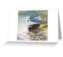 Mizpah a Staithes Double Ender in Roxby Beck Greeting Card