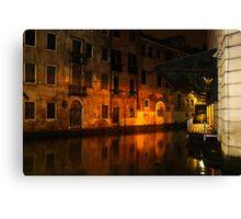 After Midnight - Rio De La Veste, Venice, Italy Canvas Print