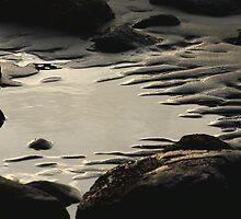 Water rock sand by Al Williscroft