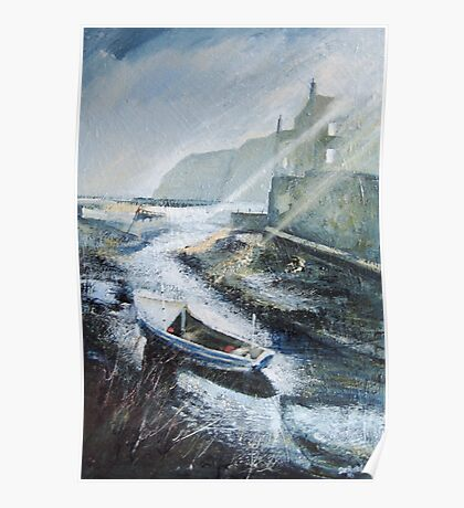 Early One Morning in Staithes Poster
