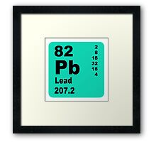 Lead periodic table of elements Framed Print