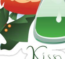 Kiss Me I'm Irish with cute chibi cartoon Leprechaun Sticker