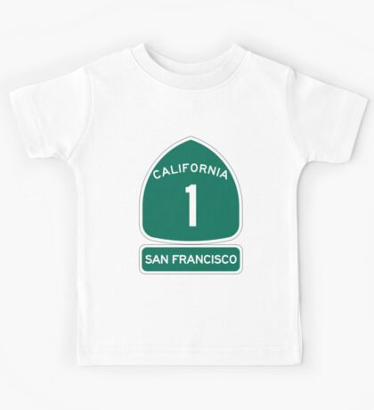 PCH - CA Highway 1 - San Francisco Kids Tee