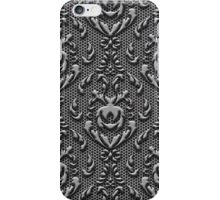 Vintage Damask Pattern Metal Look iPhone Case/Skin