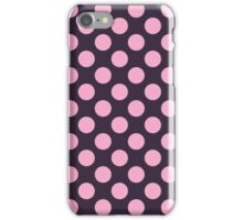 Retro Pink and Blue Polka Dots Pattern iPhone Case/Skin