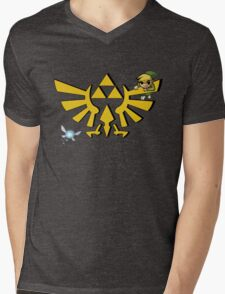 Linked to the Triforce Mens V-Neck T-Shirt